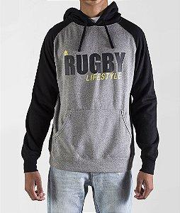 Moletom Rugby MAUL LIFE Black by ALMA Rugby