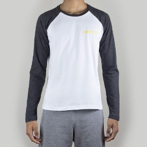 Camiseta Raglan Rugby Gray&White Origens Cocar Gold
