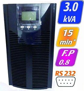 Nobreak G4 Online Dupla Conversão 3kVA/2,4kW E/S:220 c/ Bat 9Ah