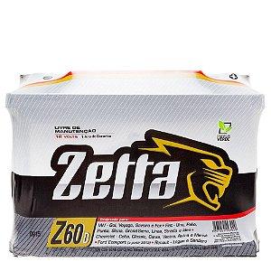 Bateria Automotiva 60Ah Zetta