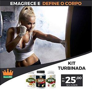 Kit Emagrecedor Turbinada® Detox Life + Café Verde + Maca Peruana - Emagrece, Transforma e Resolve - 180 Cápsulas 🔥