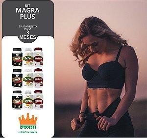 Kit Emagrecedor Magra Plus® Tratamento Completo de 3 Meses c/ 3 Detox + 3 Macas Peruanas + 3 Hibiscos - 9 Potes c/ 540 Cápsulas - Incluso Kit Fitness + Frete Pago 🚚🎁