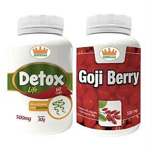 Detox Life 500mg + Goji Berry 500mg c/ 120 Cápsulas