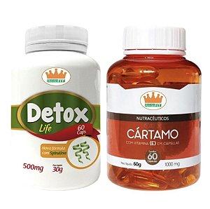 Emagrecedor Premium® - Detox Life 500mg + Cártamo 1000mg c/ 120 Cápsulas