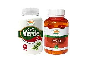 Café Verde 500mg + Óleo de Coco 1000mg c/ 120 Cápsulas
