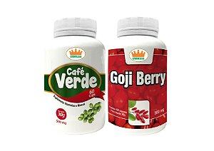 Café Verde 500mg + Goji Berry 500mg c/ 120 Cápsulas