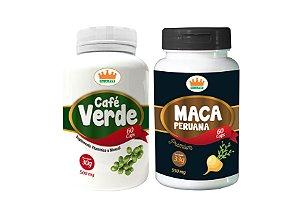 Café Verde 500mg + Maca Peruana 550mg c/ 120 Cápsulas