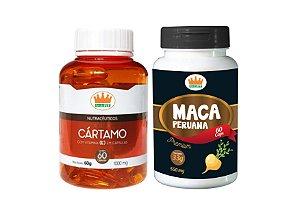 Cártamo c/ Vit E 1000mg + Maca Peruana 550mg c/ 120 Cápsulas