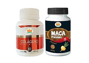 Colágeno Hidrolisado c/ Vit C 400mg + Maca Peruana 550mg c/ 120 Cápsulas
