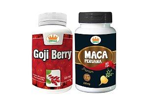 Goji Berry 500mg + Maca Peruana 550mg c/ 120 Cápsulas