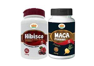 Hibisco 500mg + Maca Peruana 550mg c/ 120 Cápsulas