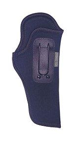 Coldre Velado Cintura Neoprene Interno c/ Gancho Universal Pistolas e Revólveres