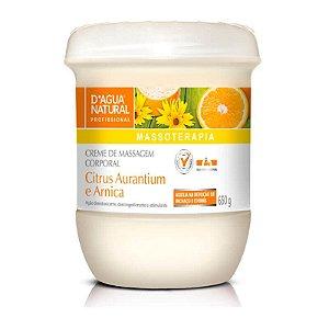 Creme D'Água Natural Citrus e Arnica Drenagem Linfática