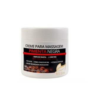Creme de Massagem Pimenta Negra - 500g Vedis