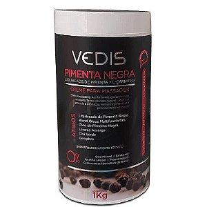 Creme de Massagem Pimenta Negra Vedis - 1kg