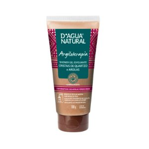 Shower Gel Esfoliante Cristais de Quartzo e Argilas D'agua Natural 180g