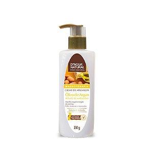 Creme de Massagem óleo de Argan e Amêndoas D'agua Natural 350g