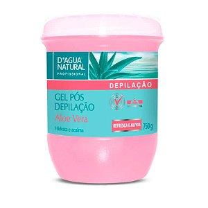 Gel Aloe Vera Pós Depilação D'Água Natural - 750g