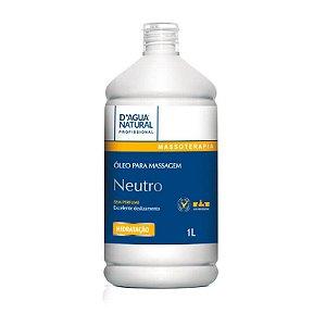 Óleo de Massagem Neutro D'Água Natural sem Perfume - 1L