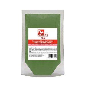 Argila Verde com Colágeno em Pó Dermare - 1KG
