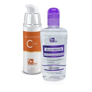 Kit Água Micelar + Vitamina C 20% - Dermare