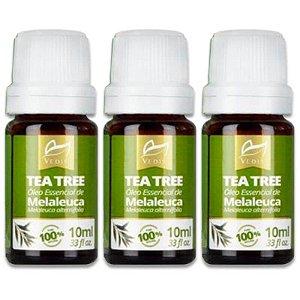 Combo 3 Óleo Essenciais Melaleuca Tea Tree Vedis