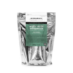 Argila Verde Enriquecida para Peles Oleosas Hidramais 500g