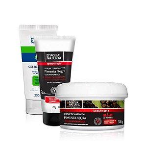 Kit Redutor de Gordura Pimenta Negra + Cafeína D'agua Natural