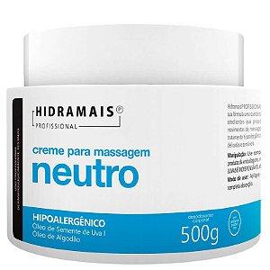 Creme Hidramais Para Massagem Neutro Hipoalergênico 500g