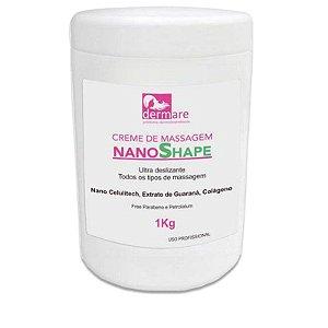 Nano Shape Dermare Creme de Massagem Ultra Deslizante 1Kg