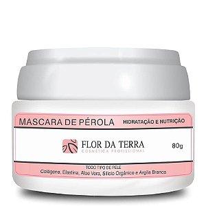 Máscara De Pérola Com Colágeno 80g Flor Da Terra