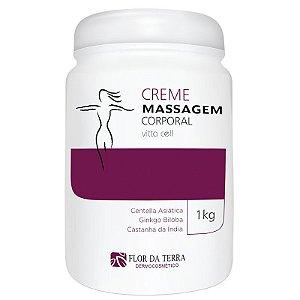 Creme Para Massagem Corporal Vitta Cell Centella Asiática 1KG Flor Da Terra