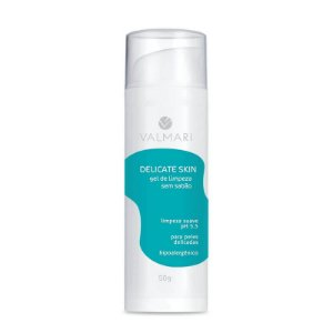 Gel De Limpeza Sem Sabão Delicate Skin 50g Valmari