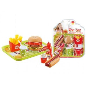 Kit Lanchonete Hambúrguer Mini Chef - Xalingo