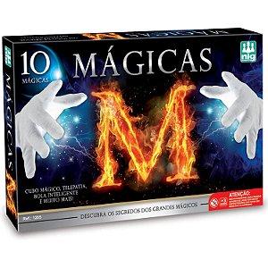 Jogo Kit de Mágica Nig Brinquedos 10 Mágicas