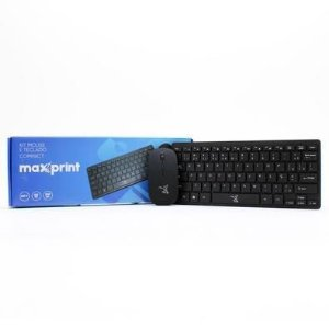 Kit Teclado e Mouse Maxprint Compact Sem Fio 2.4Ghz