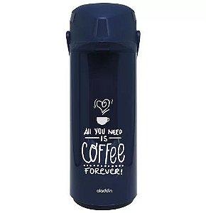 Garrafa Térmica Aladdin 1l Pressão Azul Coffee