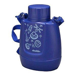 Cantil Térmico Infantil Azul Foguetes 300ml Aladdin