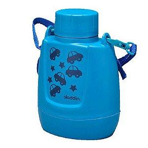 Cantil Térmico Infantil Azul Claro Carros 300ml Aladdin