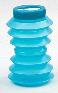 Garrafa de água dobrável reutilizável 500ml  Ohyo Azul