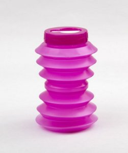 Garrafa de água dobrável reutilizável 500ml  Ohyo Rosa