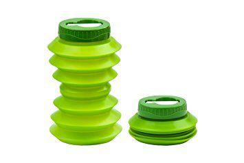 Garrafa de água dobrável reutilizável 500ml  Ohyo Verde