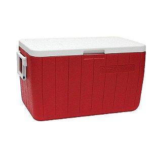 Caixa Térmica 48QT - 45,4L Vermelho Coleman