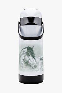 Garrafa Térmica Magic Pump 1L Cavalo Termolar