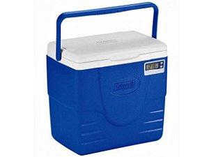 Caixa Térmica 16QT 15,1L Azul com Termômetro Coleman