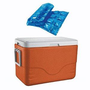 Caixa Térmica 26,5L Coleman + Gelo Reutilizável Ice Igloo