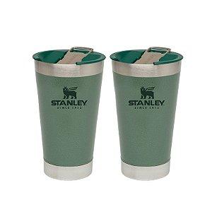 Combo 2 Copos Térmicos de Cerveja com Tampa  473ml Stanley