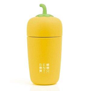 Copo Térmico infantil Bento Veggie Amarelo 235ml