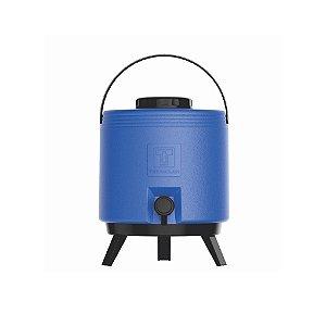 Botijão Térmico com Torneira Maxitermo Azul 8L Termolar