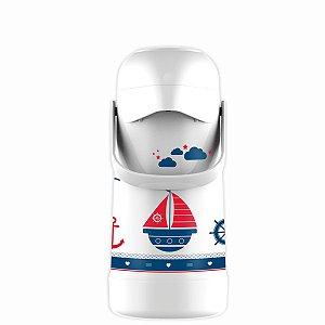 Garrafa Térmica Magic Pump Baby Marinheiro Branca 500ml Termolar